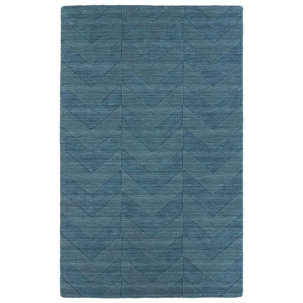 Hand Carved Turquoise Chevron Wool Rug (8' x 11') - Overstock™ Shopping - Great Deals on 7x9 - 10x14 Rugs