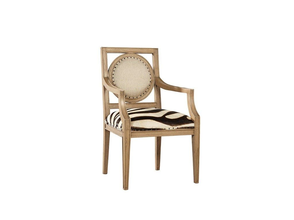 Furniture Classics Dining Room Zebra Arm Chair 90 21   American Factory  Direct   Baton