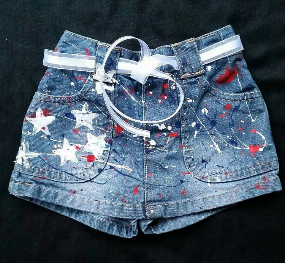 958f19ae20 4th of July- Girls- Boys- Patriotic Shorts- Jeans- Skirts- American Flag-  Distressed Denim- Infant- Baby- Toddler- Kids- Splatter Painted by  DivineUnlimited ...