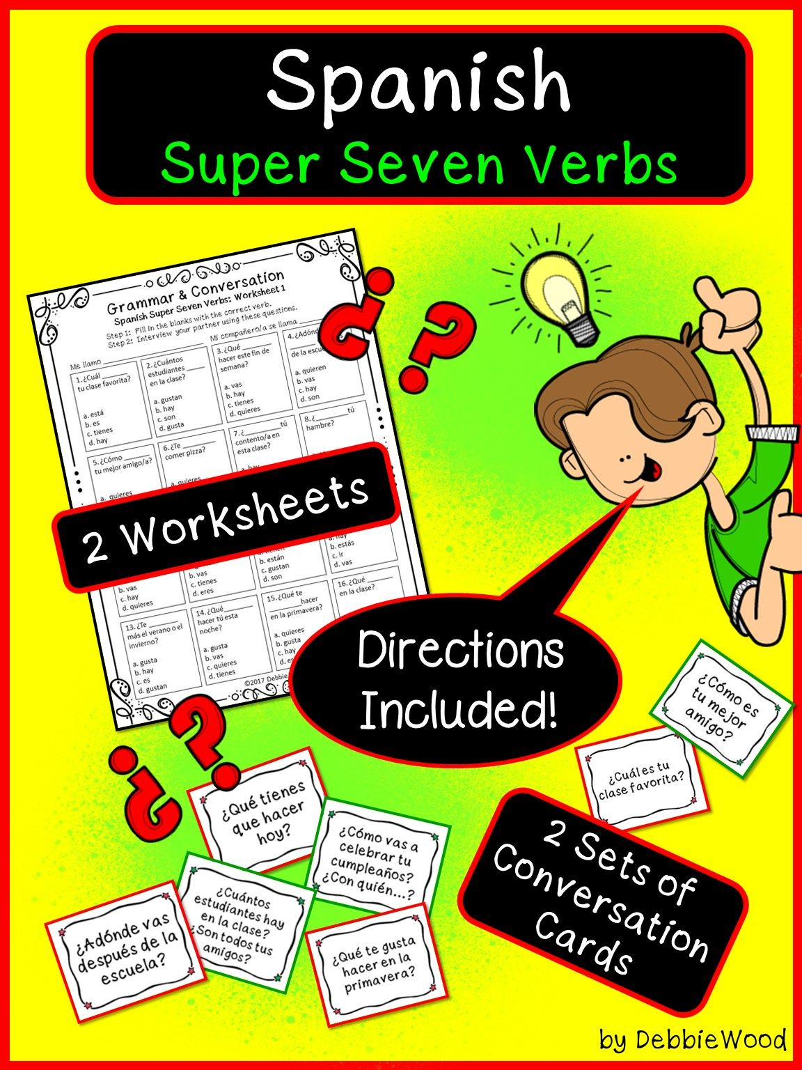 Practice These Super Seven Verbs To Increase Proficiency In Your Spanish Language Classroom Fun Interactive Spanish How To Speak Spanish Spanish Conversation