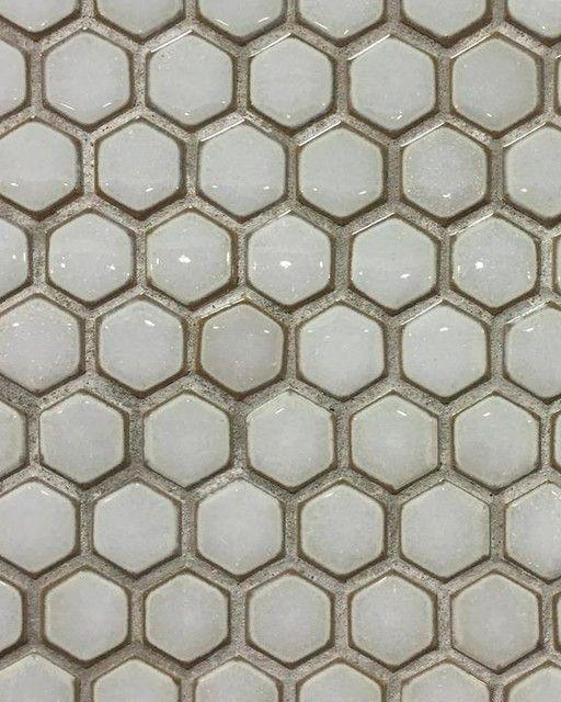 Hexagon Design Bathroom Tile Hex Gloss Moss 1 In 2019