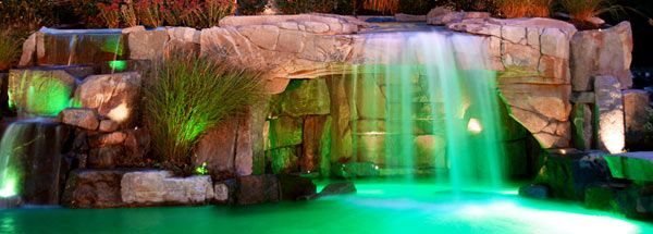 waterfall-with-colors-south-florida Home - Backyard, Pools, Spas