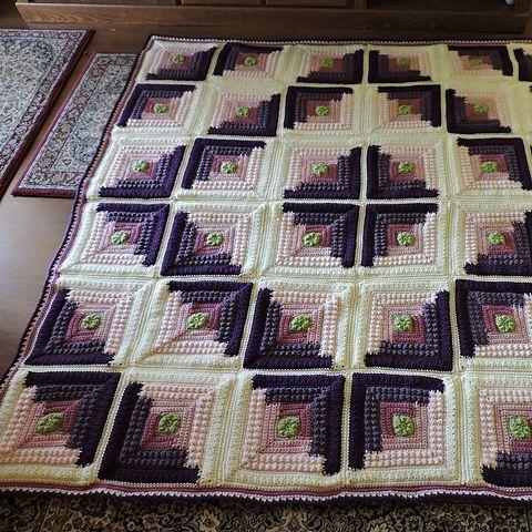 Autumn Log Cabin [Crochet Throw Free Pattern | Ordner, Häkeln und ...
