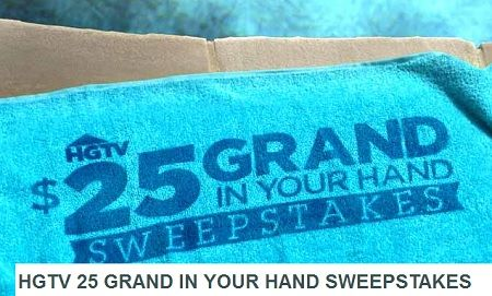 Hgtv 25 Grand In Your Hand Sweepstakes Code Words Sweeps Maniac Sweepstakes Hgtv Grands