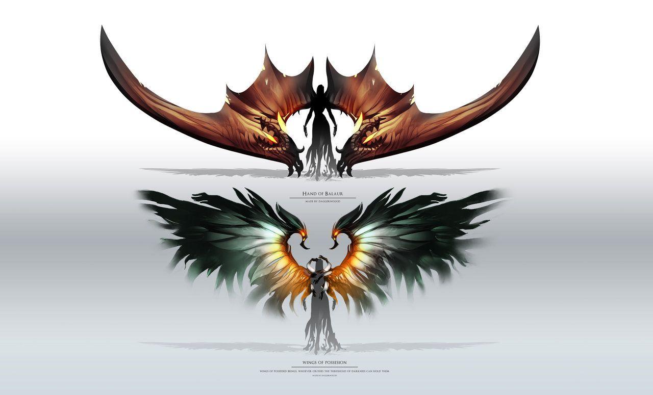 Aion Wings By Daggernogod Deviantart Com On Deviantart Wings