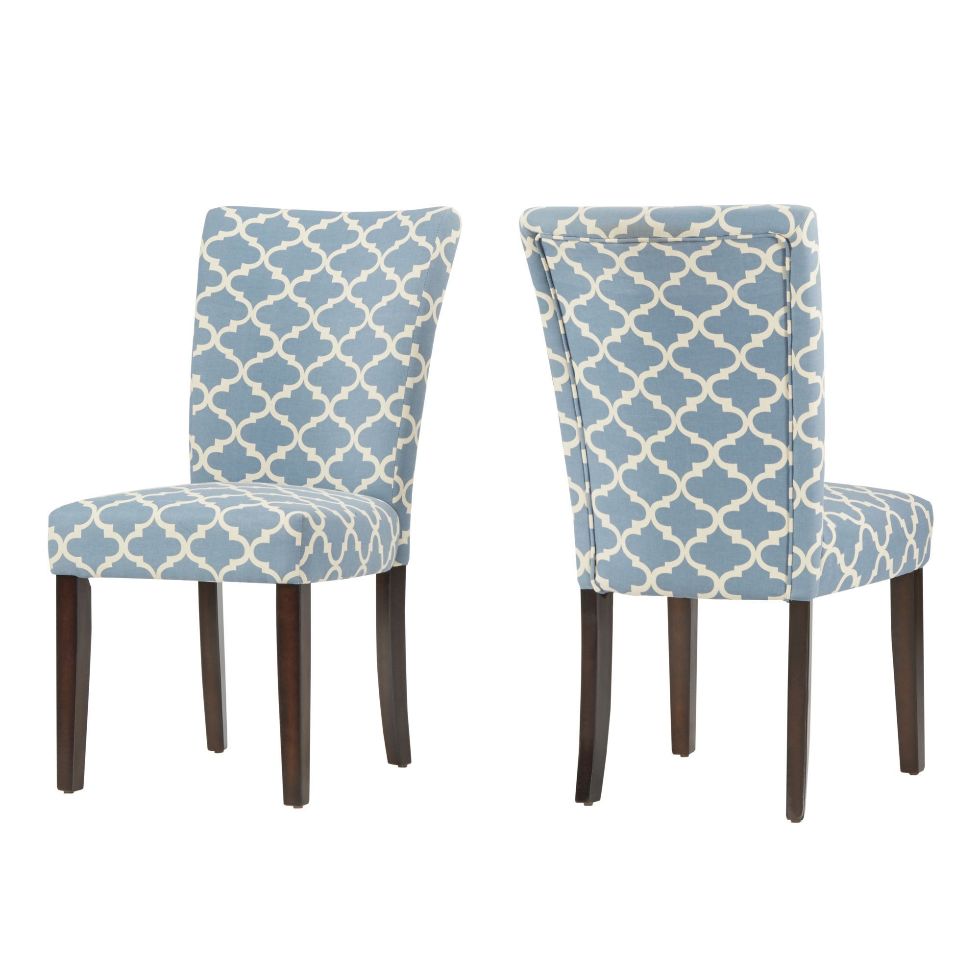 Inspire Q Catherine Moroccan Pattern Fabric Parsons Dining Chair