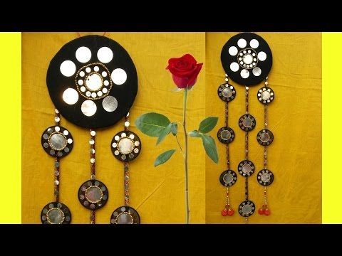 How to Make Beautiful Wall Hanging With Bangles and Cloth II DIY ...