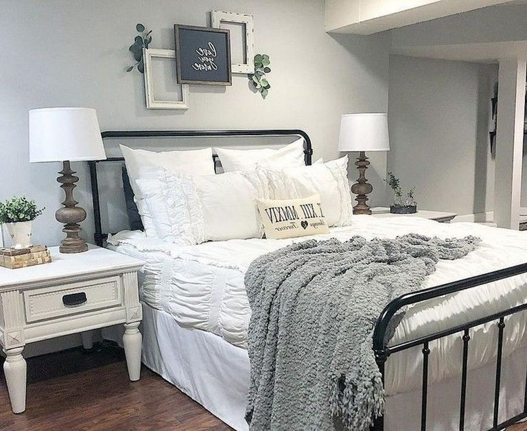 45 lovely master bedroom ideas with farmhouse style