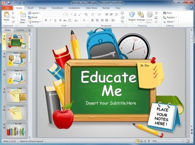 Educate Me PowerPoint Template presentaciones power point - sample education power point templates