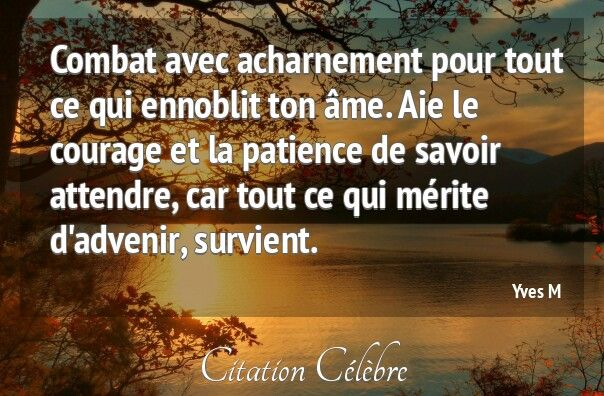 Citation De Courage Et Patience Forumhulp