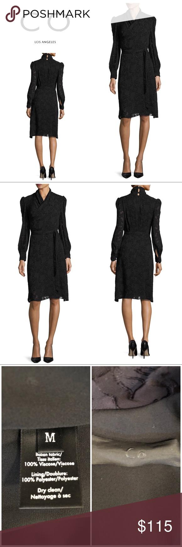 New co los angeles burnout black wrap dress my posh picks