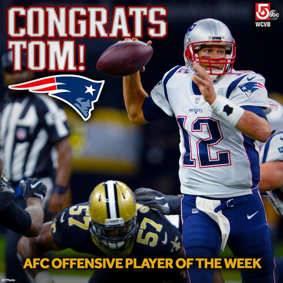 Congrats To Tom Brady For His 28th Player Of The Week Honor A New Nfl Record New England Patriots Tom Brady New York Mets