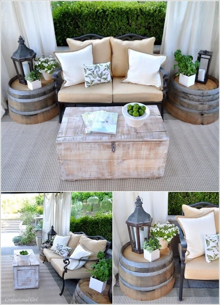 15 Cool Patio Side Table Designs For Your Home Outdoor Sitting Ideas
