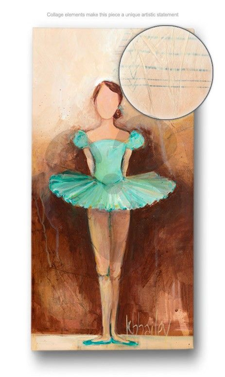 Belle of the Ballet - Green - Dance Canvas Wall Art | Oopsy daisy