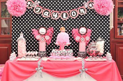 Barbie party decoraci n de fiestas de cumplea os - Decoracion cumpleanos infantiles ...
