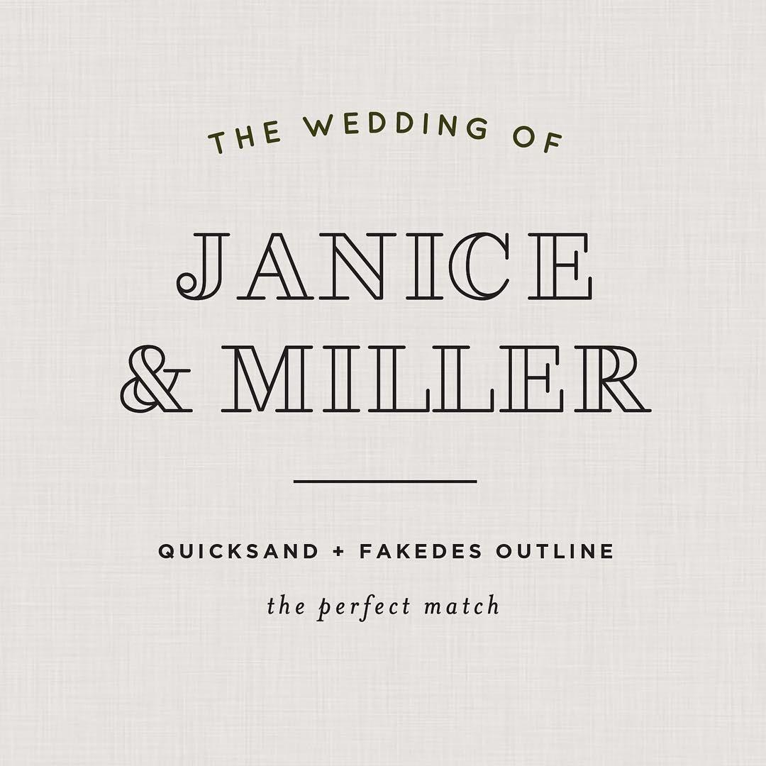 Free Wedding Font Pairings