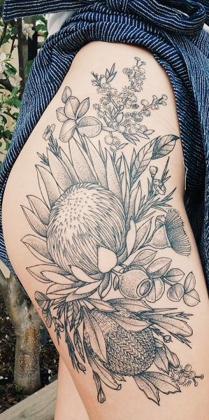 Native Australian Plants Tumblr Floral Tattoo Sleeve Native Tattoos Wildflower Tattoo
