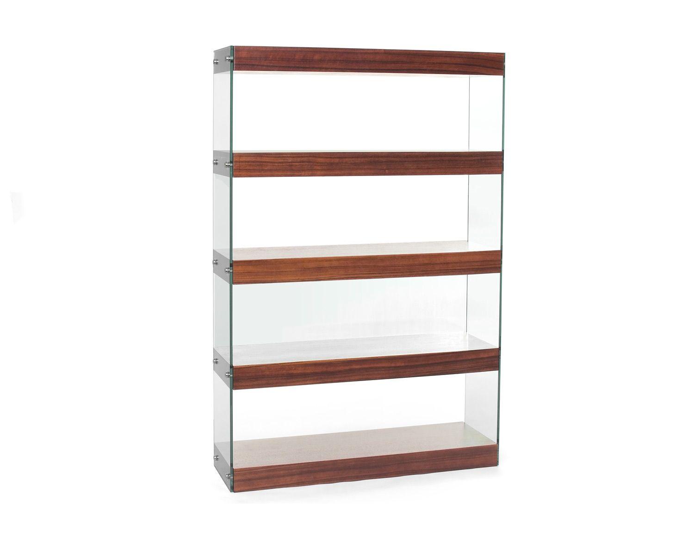 Tall glass bookcase DEMIO