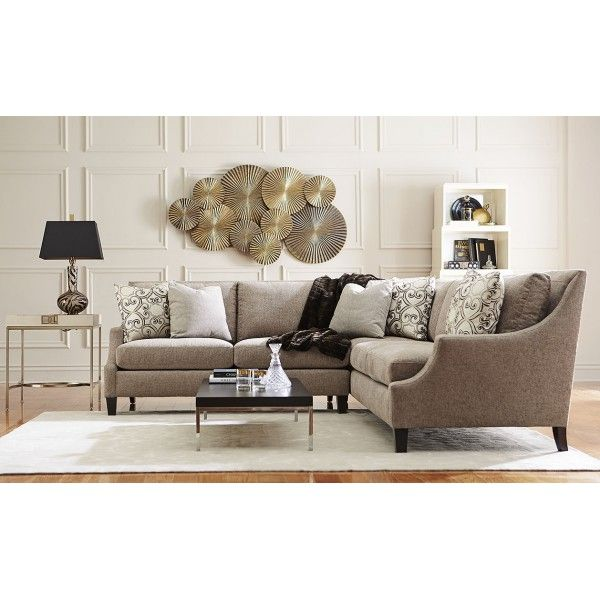 Living Room Furniture Houston Tx: Marion Straw 2PC Sectional