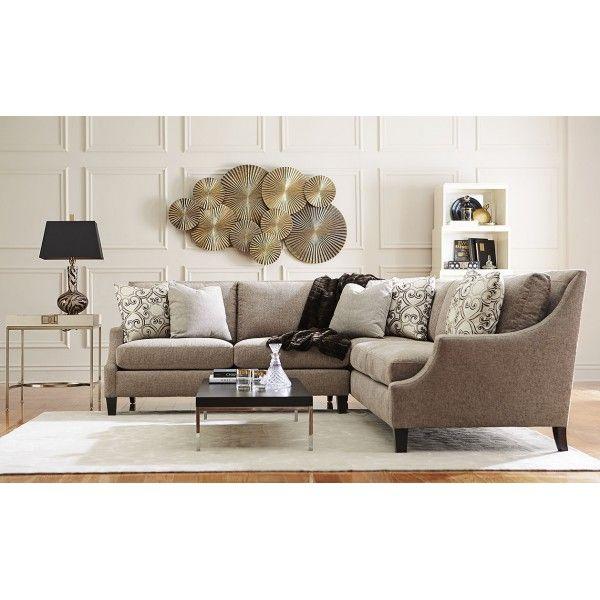 Marion Straw PC Sectional Bernhardt Star Furniture Houston TX Furniture San