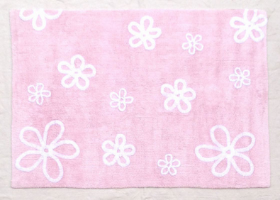 Decoiluzion alfombra infantil flores rosa alfombras - Alfombras redondas infantiles ...