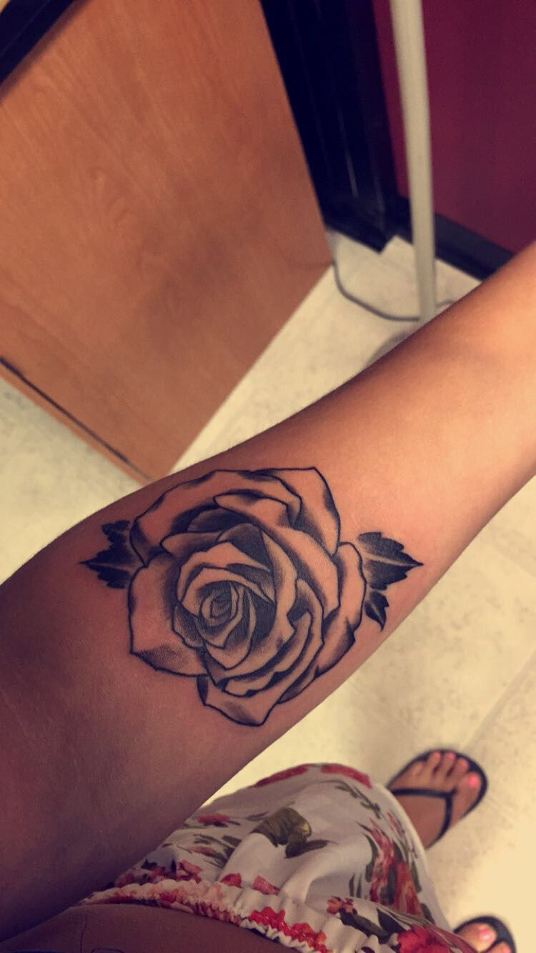 Black and white rose tattoo, forearm placement | Tattoos | Pinterest ...