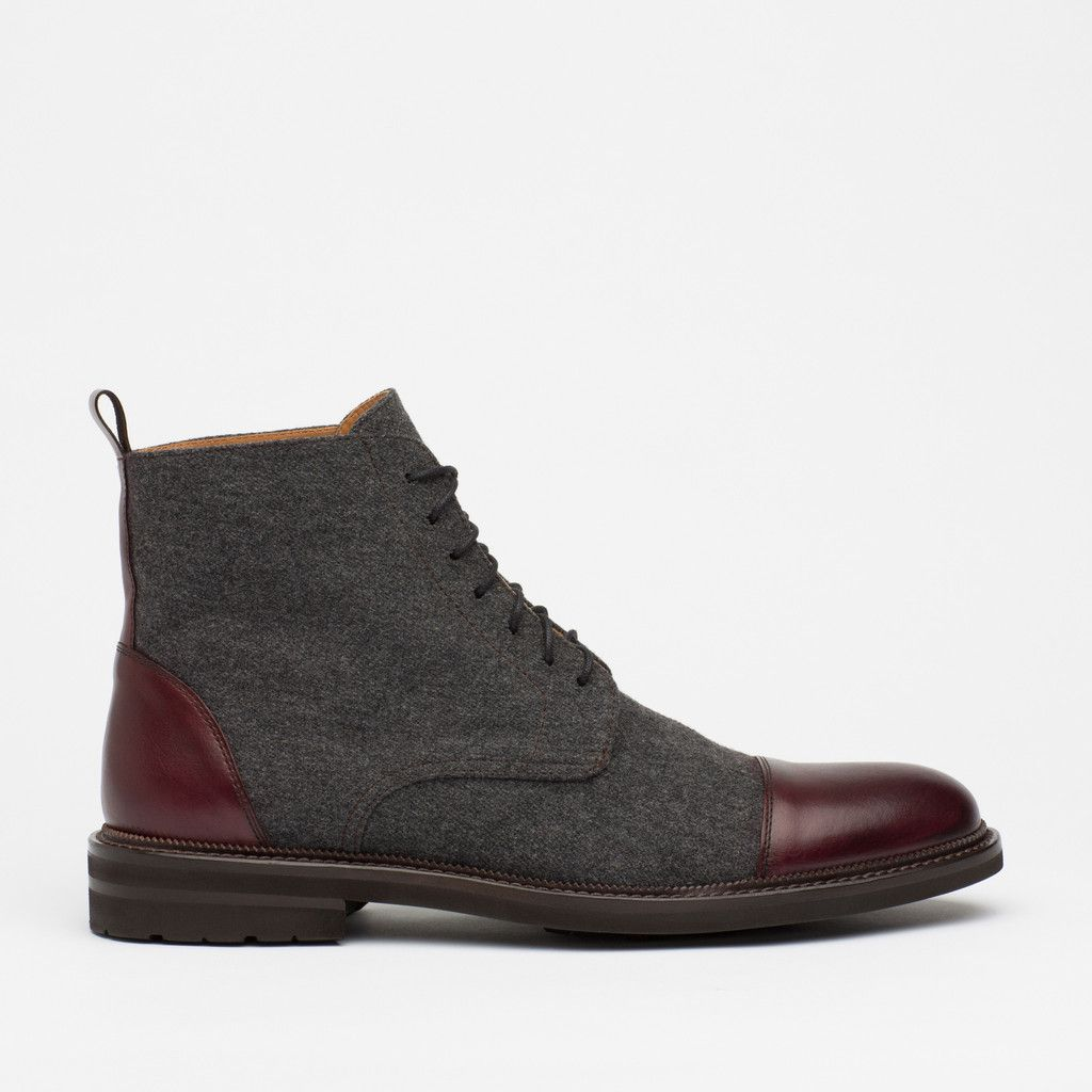 The Jack Boot in Grey Oxblood – TAFT Taft Boots, Suit Shoes, Dress d8855971bc