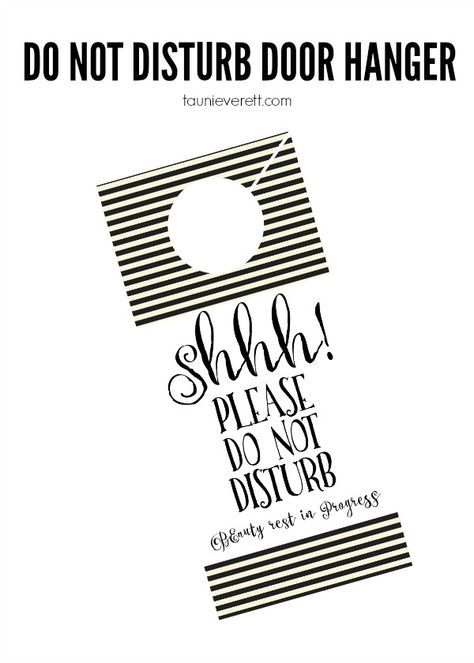 Houseguest Welcome Basket  Do Not Disturb Printable  Door Tags