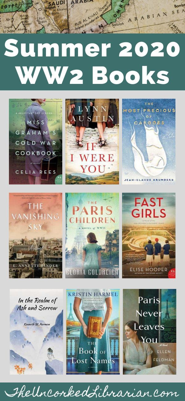Don't miss these summer 2020 WW2 book releases.  Find 10 new, upcoming, and most anticipated World War 2 books to read publishing this summer.  You'll love this summer WW2 historical fiction reading list. #theuncorkedlibrarian