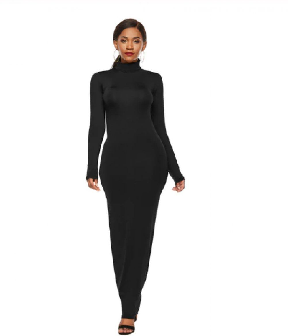Bodycon dress long sleeve maxi winter dresses concealed
