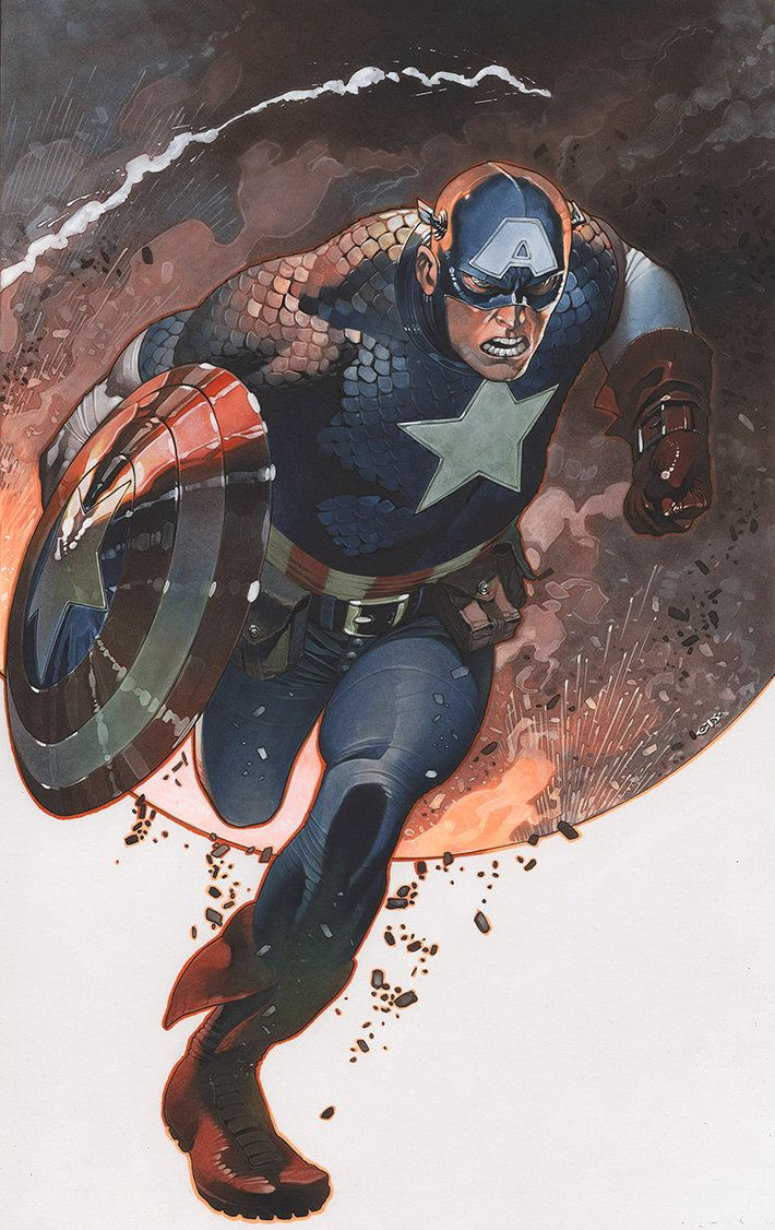 Captain America in action by ChristopherStevens.deviantart.com on @DeviantArt