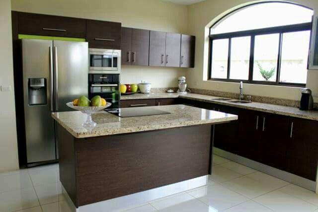 Meson central cocina cocina muebles de cocina for Muebles de cocina costa rica