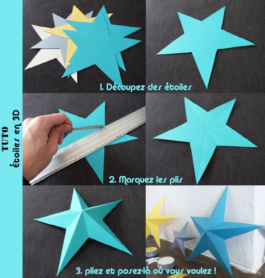 Top etoile 3D en papier : le tuto | Origami, Craft and Xmas OA76