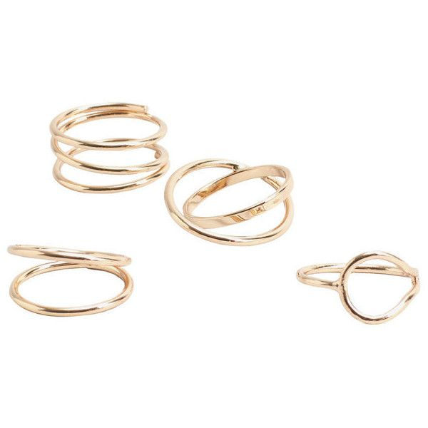 Mango Metal Ring Set 16 Liked On Polyvore Featuring Jewelry Rings Bague Metal Jewellery Set Rings Mang Geometric Jewelry Metal Jewelry Geometric Ring