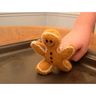 Knittedfelted Gingerbread Man Gingerbread Man Gingerbread And