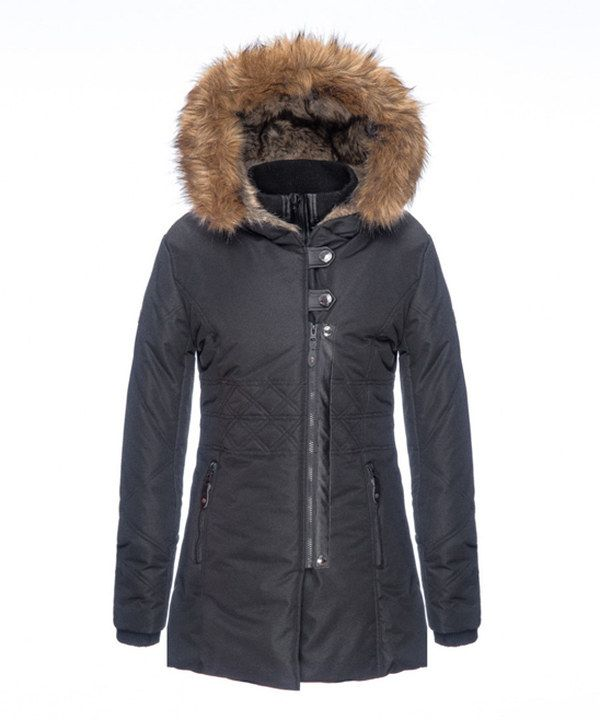 Look at this Point Zero Black Diamond-Quilted Puffer Coat on #zulily today!