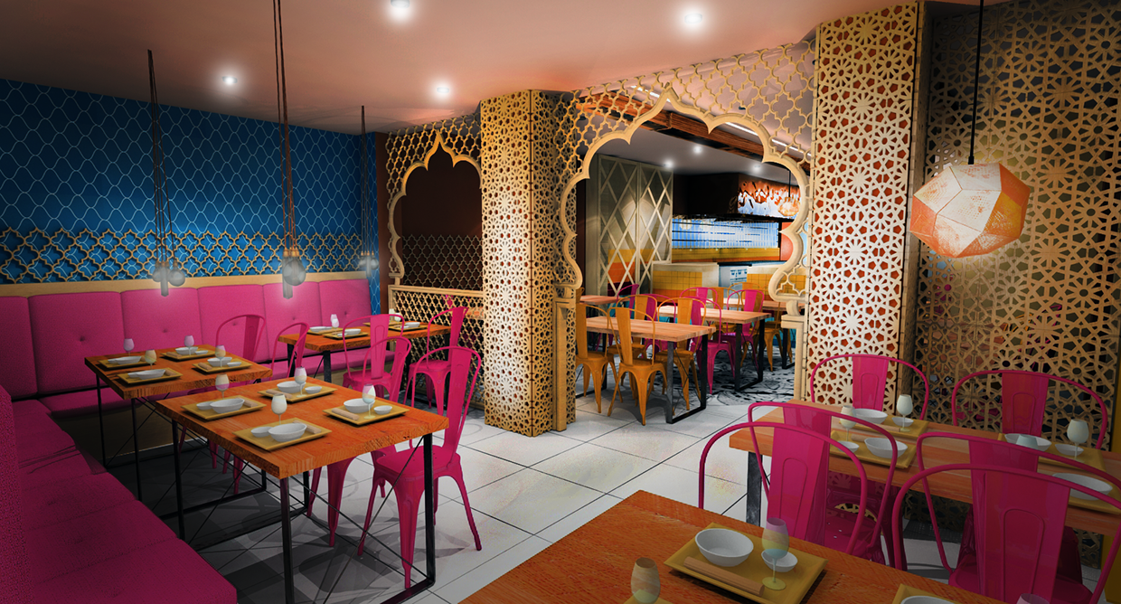 Indian Restaurant Concept Design (London, Haringey) On Behance With High  Ceiling, It Would Look Great