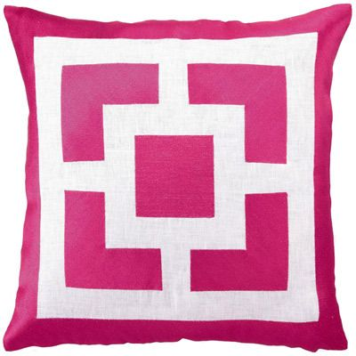 palm springs block embroidered pillow