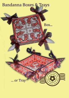 Los Papercraft Mensaje: pañuelo Cajas y Bandejas