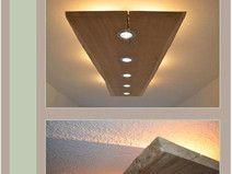 Wohnzimmerlampe Decke ~ Shop decken aufbau strahler led modern schwarz golden leuchte