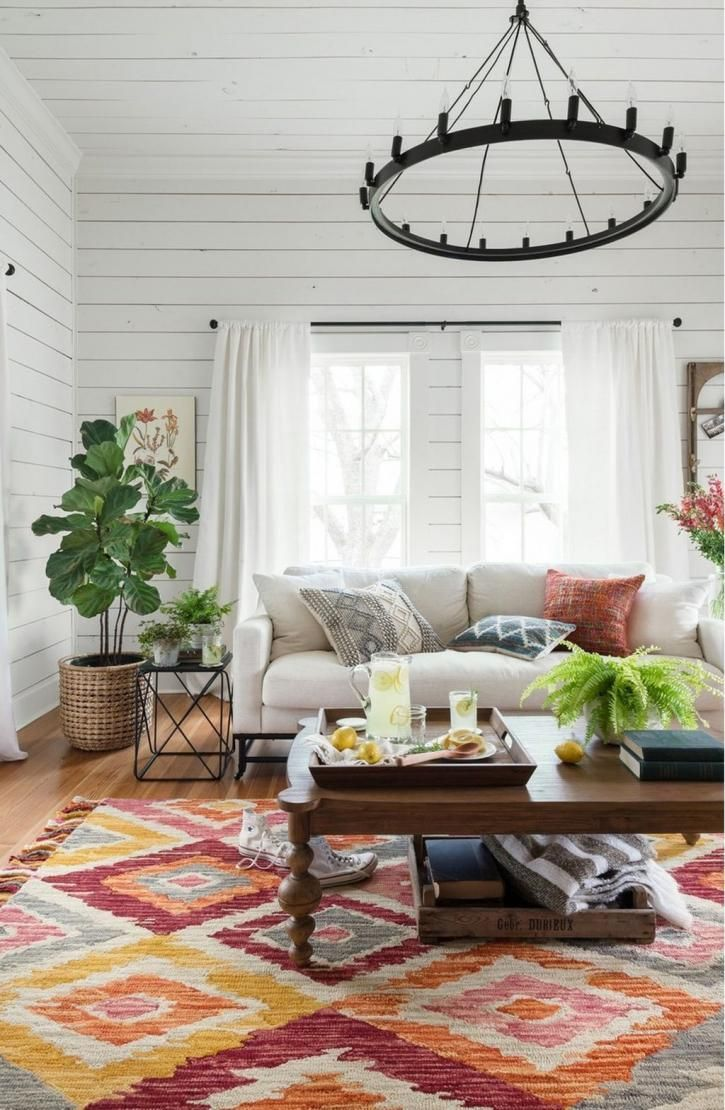 40+ Gorgeous Farmhouse Modern and Rustic Living Room Design and ...
