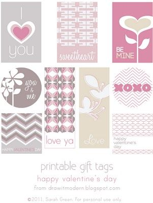 Free Valentine's Day/Love printables from Draw it Modern