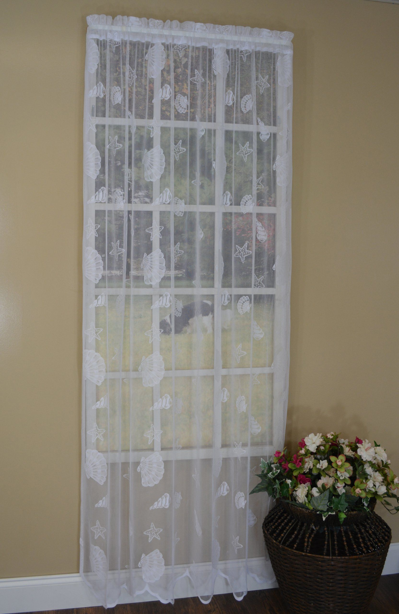 Wrap Text Around Image With Images Shabby Chic Lace Curtains