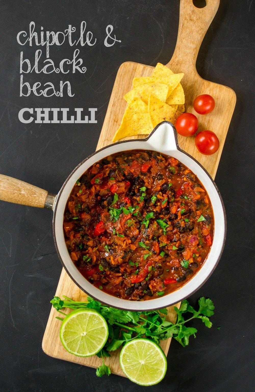 Chipotle Amp Black Bean Chilli Vegan Bean Chilli