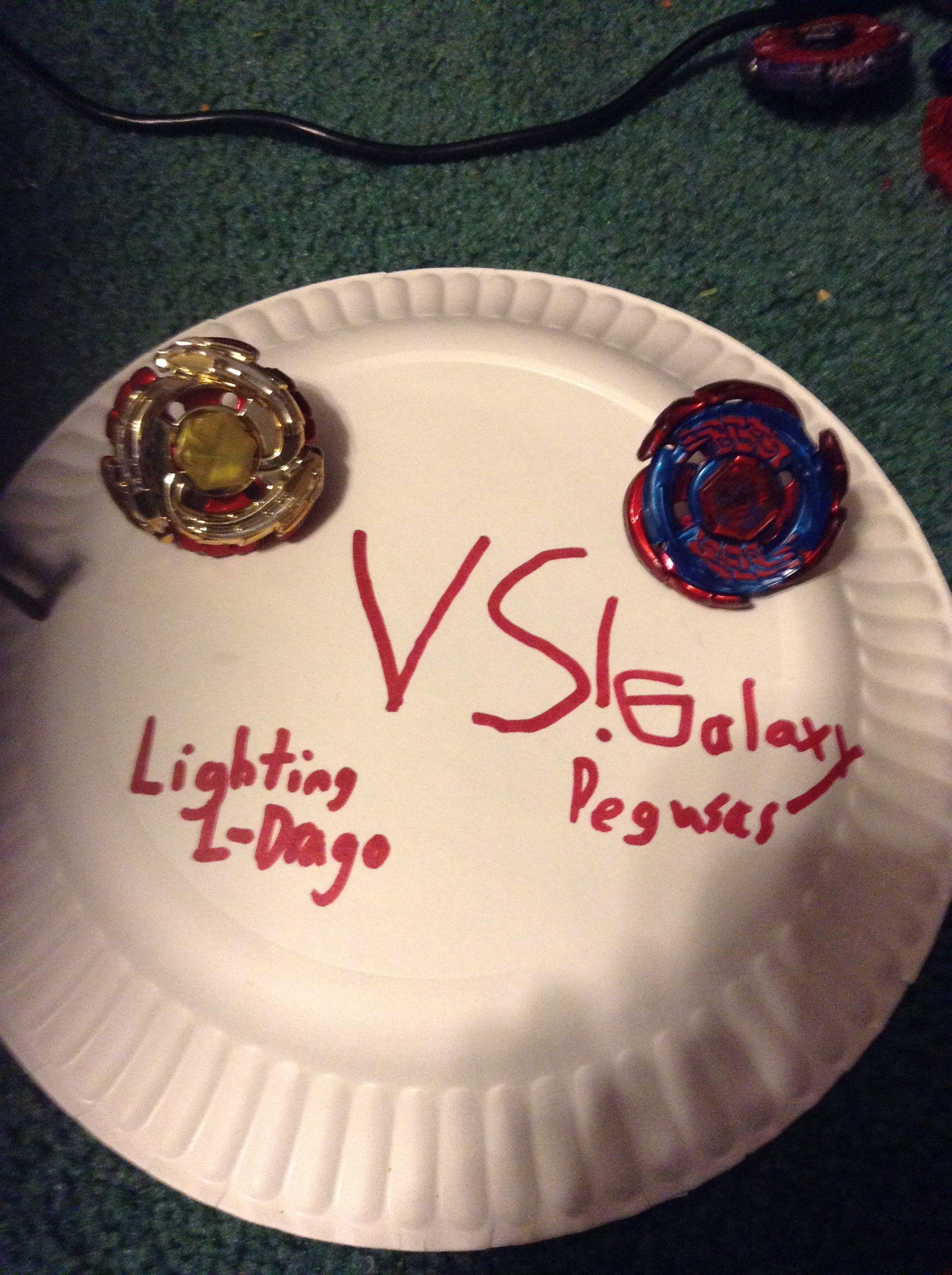 Evil Ryuga VS Ginga Lightning L Drago VS Galaxy Pegasius