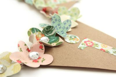 gorgeous bunting for a party...