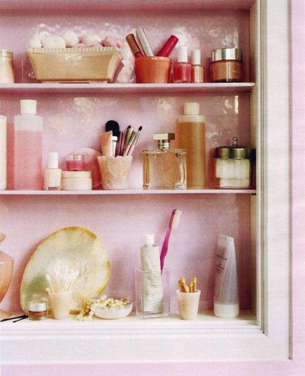 Nicely Organized Stylish Medicine Cabinet Pink Via Thedecorista