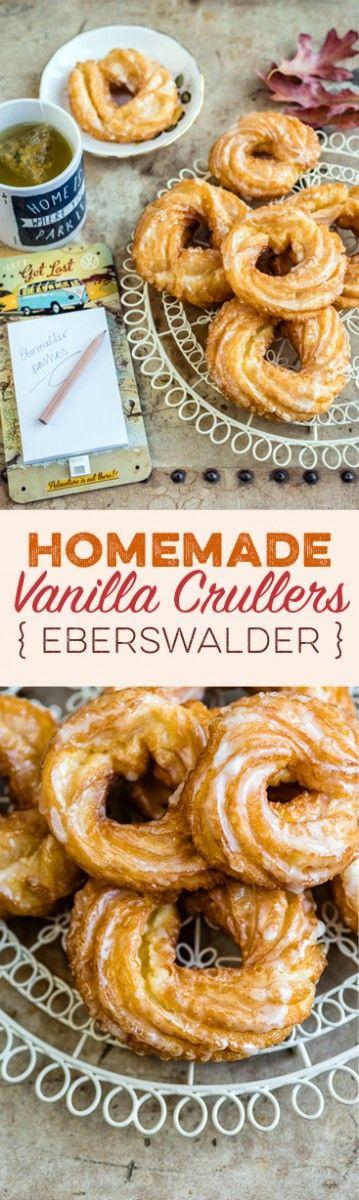 "German Vanilla Glazed Crullers { Eberswalder Spritzkuchen } Visit the collaborative board ""Food bloggers for Volkswagen"" for more inspiring recipes and ideas. https://www.pinterest.co.uk/volkswagen/food-bloggers-for-volkswagen/"