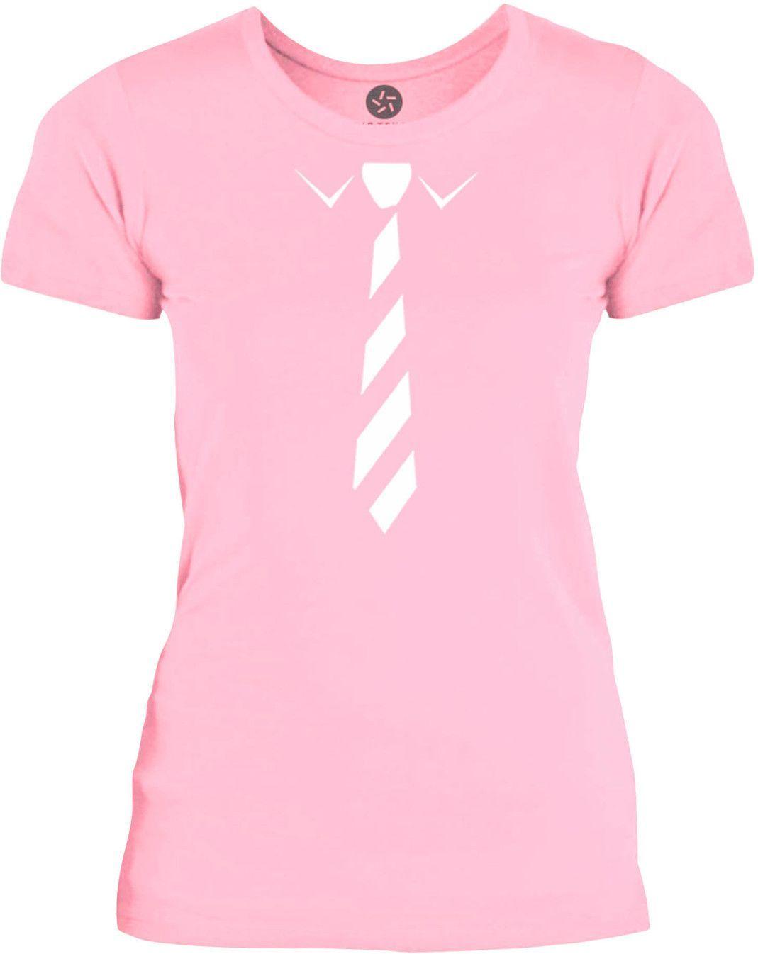 Big Texas Business Tie (White) Womens Fine Jersey T-Shirt