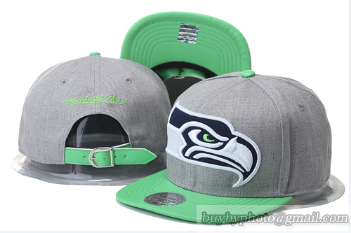 06f788accfd Cheap Wholesale Seattle Seahawks Strapback Hats Brim Leather Mitchell    Ness Snapback Caps Gray Green for slae at US 8.90  snapbackhats  snapbacks   hiphop ...